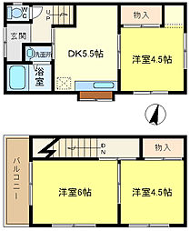 [一戸建] 兵庫県神戸市垂水区星陵台5丁目 の賃貸【/】の間取り