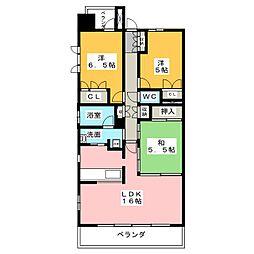Cassia桜山[14階]の間取り
