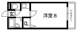 サンライフ長田[402号室号室]の間取り