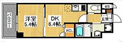 イルマーレ博多[10階]の間取り
