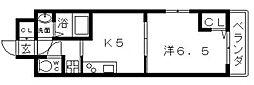 近鉄南大阪線 河堀口駅 徒歩7分の賃貸マンション 11階1Kの間取り