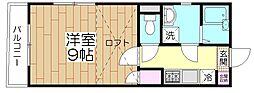 オペラシオンボヌール竹の塚[302号室]の間取り