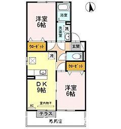 アクシス南島田A棟[1階]の間取り