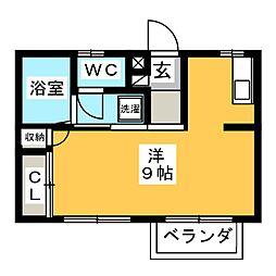 エクセルユキII[1階]の間取り