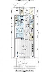 エステムコートディアシティWEST[15階]の間取り
