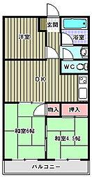 ハイツユソーキ[4階]の間取り
