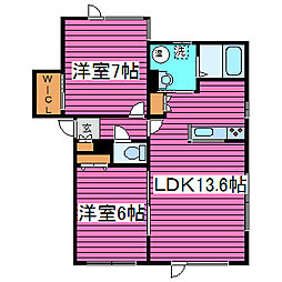 [タウンハウス] 北海道札幌市東区北三十九条東2丁目 の賃貸【北海道 / 札幌市東区】の間取り