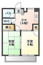 ミ・カーサ[2階]の間取り