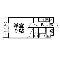 ガーデンヒルズタカハタ[3階]の間取り
