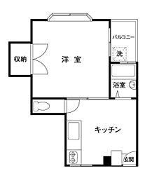 第7コーポ大栄[302号室]の間取り