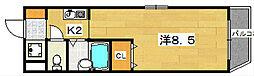 ライフハイム須賀[1階]の間取り