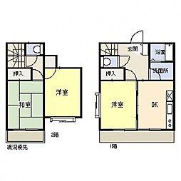 [タウンハウス] 神奈川県横浜市都筑区牛久保西3丁目 の賃貸【/】の間取り