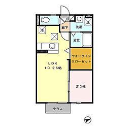 福岡県北九州市八幡西区三ツ頭2丁目の賃貸アパートの間取り
