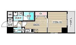S-FORT福島EBIE 3階1DKの間取り