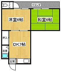 中島町マンション[3階]の間取り