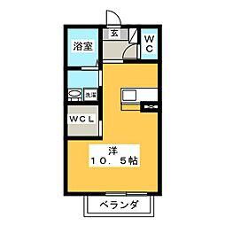 CASA広幡[2階]の間取り