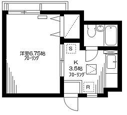 東京都品川区二葉3丁目の賃貸アパートの間取り