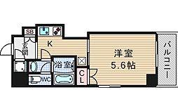 大阪府大阪市西区江戸堀1丁目の賃貸マンションの間取り