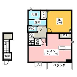 欅(keyaki)[2階]の間取り