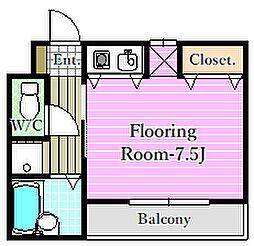 ピュアハウスSI・II[2階]の間取り