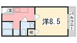 ラタンアパートメントII[310号室]の間取り