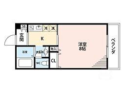 ドミトリオ仁王田[1階]の間取り
