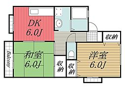 千葉県佐倉市西志津3丁目の賃貸アパートの間取り