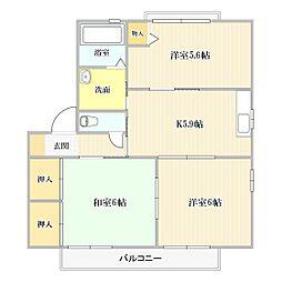 シャーメゾン スーベニール I棟[2階]の間取り