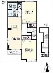 アモーレ[2階]の間取り