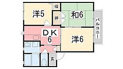 フレグランス小川A[102号室]の間取り