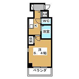 プレサンス京都烏丸御池II[6階]の間取り