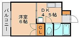 藤野ビル[3階]の間取り