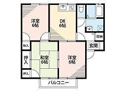福岡県遠賀郡水巻町猪熊2丁目の賃貸アパートの間取り