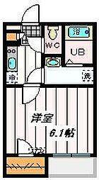 JR埼京線 南与野駅 徒歩26分の賃貸アパート 1階1Kの間取り