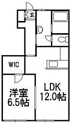 北海道札幌市西区八軒十条西1丁目の賃貸アパートの間取り