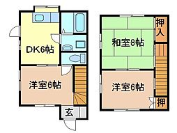 静岡県富士市今泉の賃貸アパートの間取り