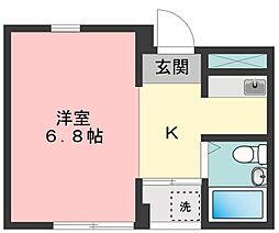 コーポ永[3階]の間取り
