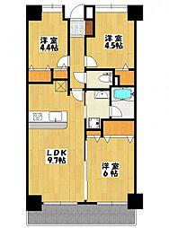 レ・ソール本八幡[2階]の間取り