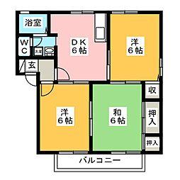 フォレストコート一宮 B棟[2階]の間取り