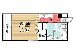 千葉県千葉市中央区登戸5丁目の賃貸マンションの間取り