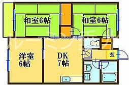 今田マンション[3階]の間取り