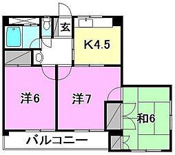 キジヤ中央ビル[406 号室号室]の間取り