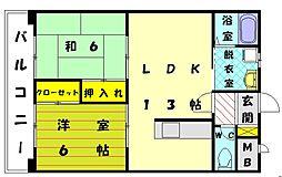 サンマリノ三苫[4階]の間取り