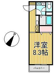 アゼリア鎌倉B[306号室]の間取り