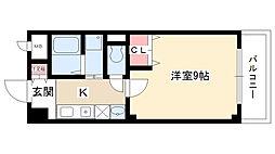 愛知県日進市竹の山3丁目の賃貸アパートの間取り