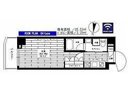 東急世田谷線 松原駅 徒歩3分の賃貸マンション 2階1Kの間取り