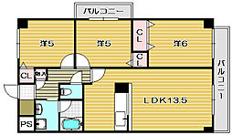 フィオーレつじ[2階]の間取り