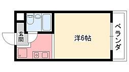 グランディア甲子園[208号室]の間取り