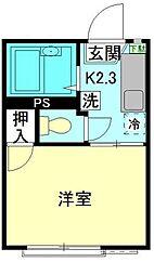 埼玉県草加市旭町4の賃貸アパートの間取り