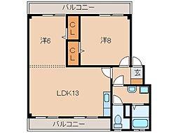 アイリスMT[1階]の間取り